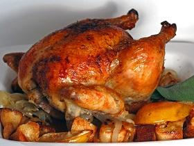 Carne de Ave pollo asado a la naranja