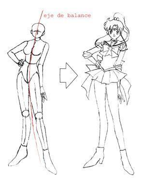 Dibujo del Personaje del Curso de Anime