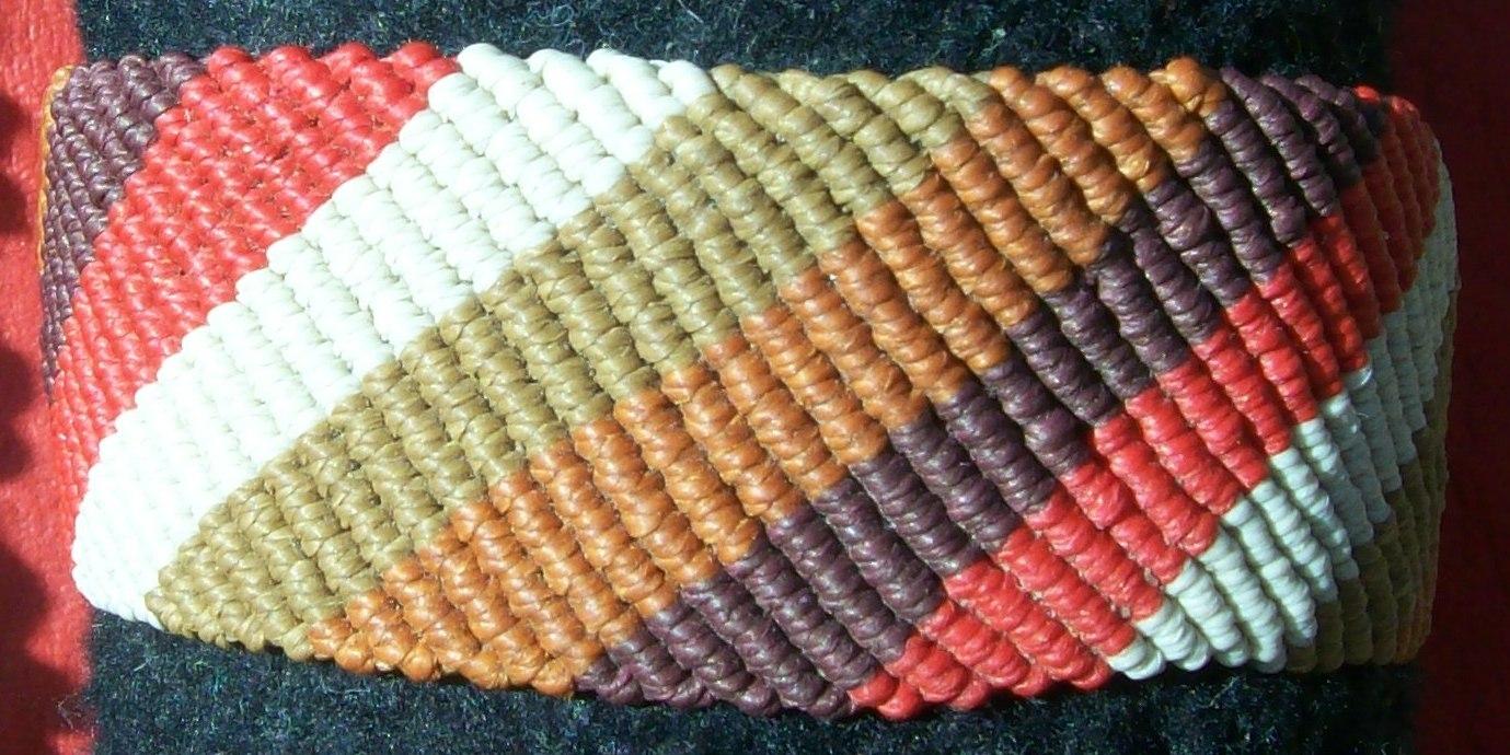 Pulsera Ancha Diagonal