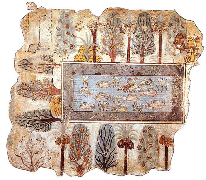 Imagen de los primeros acuarios de la historia.