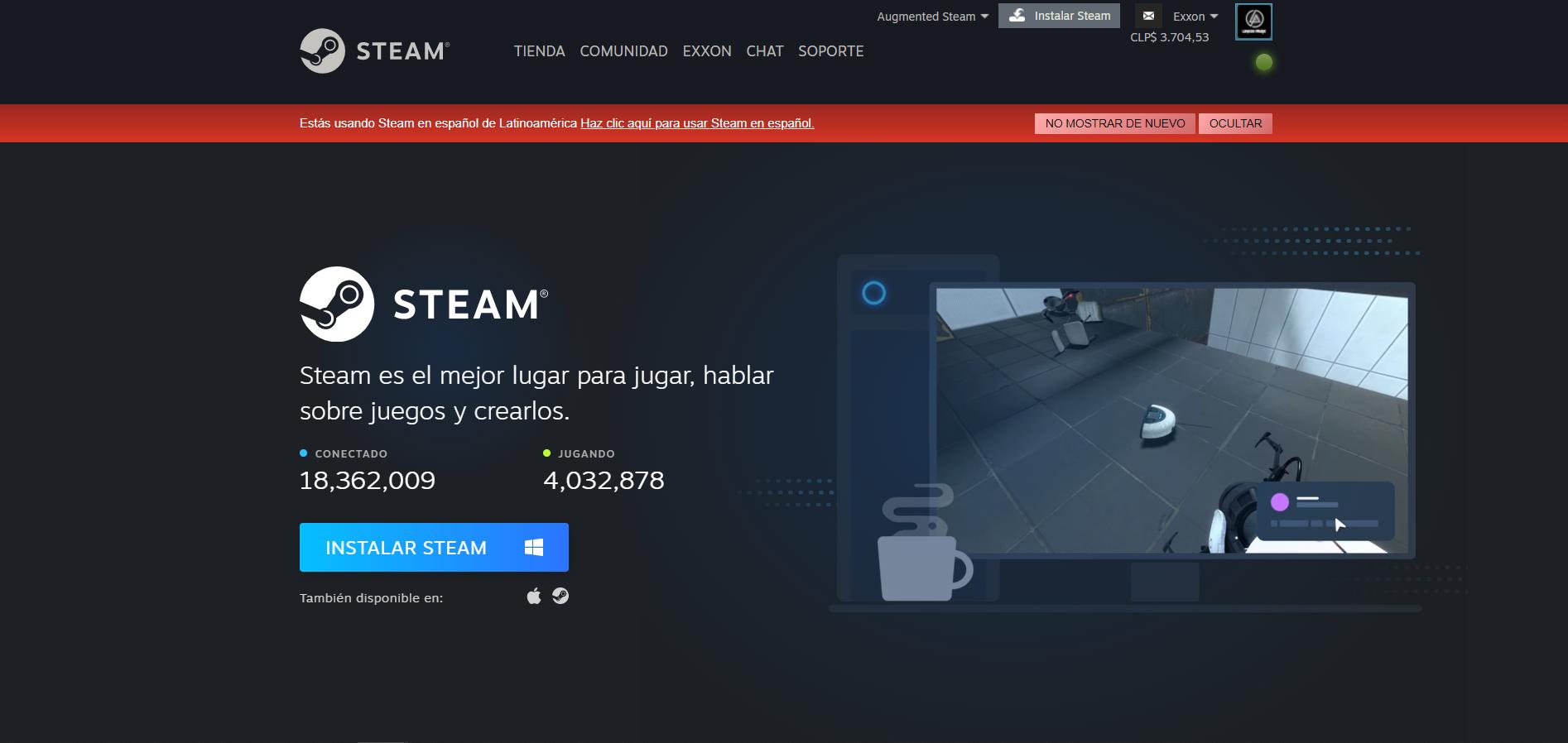 Portal descarga Steam