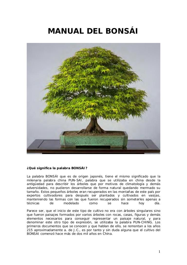 manual completo de bonsai