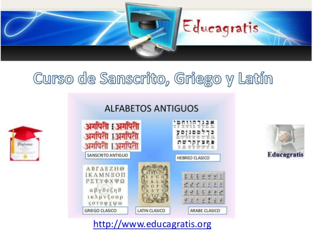 Curso de Sanscrito Griego y Latin