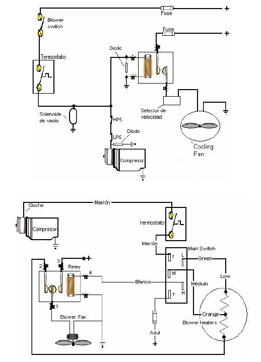 esquematicos electricos aire acondicionado
