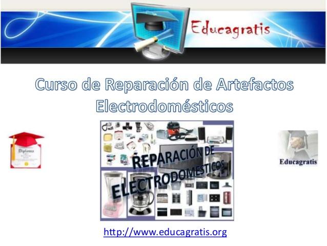 curso gratis de reparacion de artefactos electrodomsticos