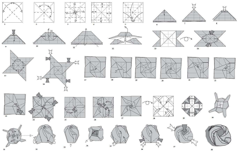 Manualidades En Origami Rosas