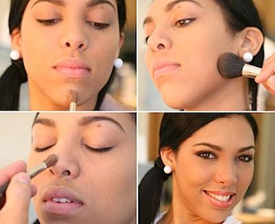 maquillar menton