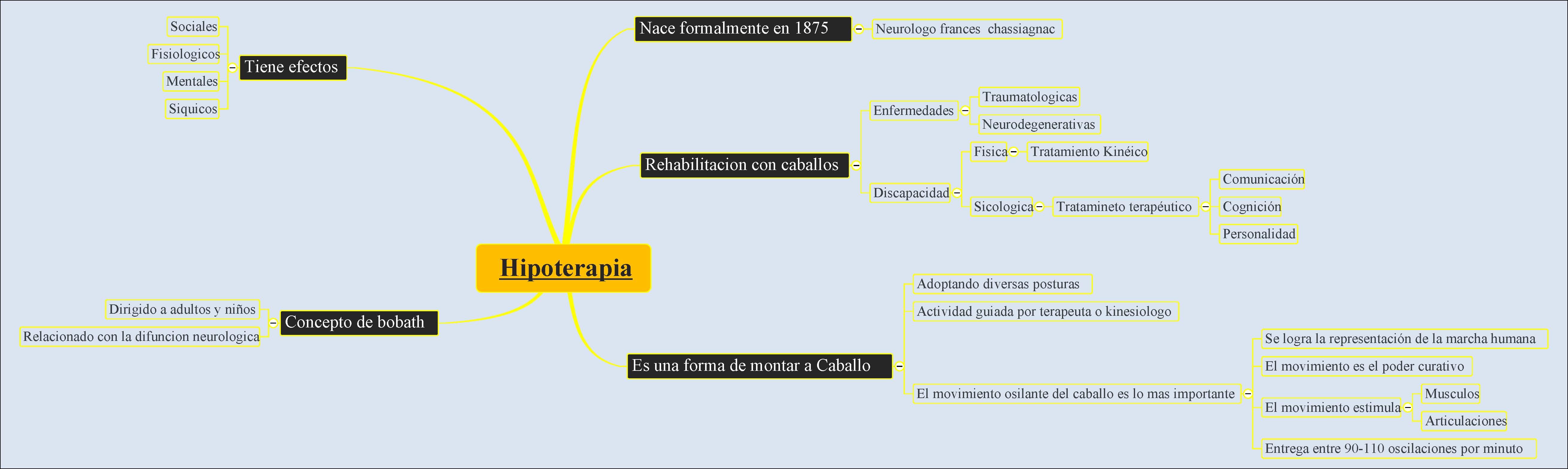 Mapa Conceptual Hipoterapia Equinoterapia