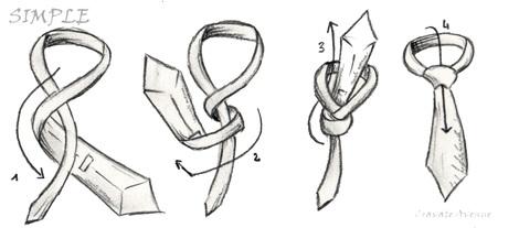 Nudo corbata simple