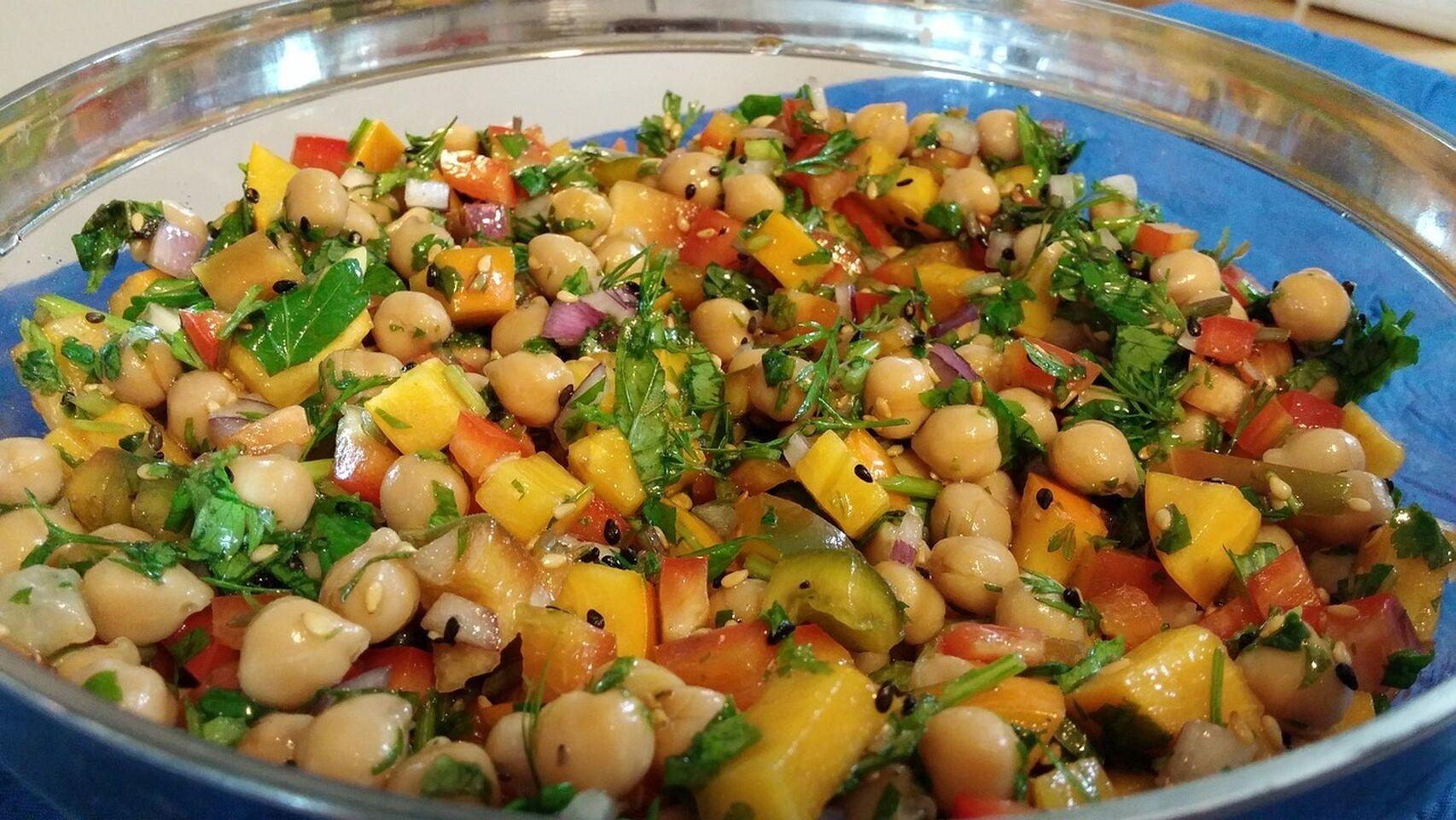 ensaladas de legumbres