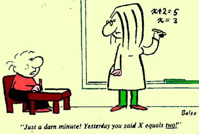 Estara en lo correcto la profesora o el alumno?
