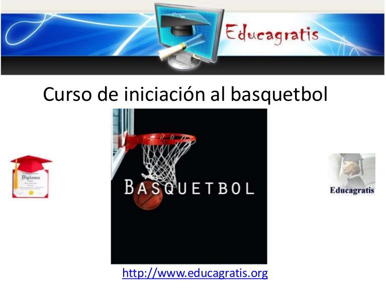 curso de iniciacion al basquetbol