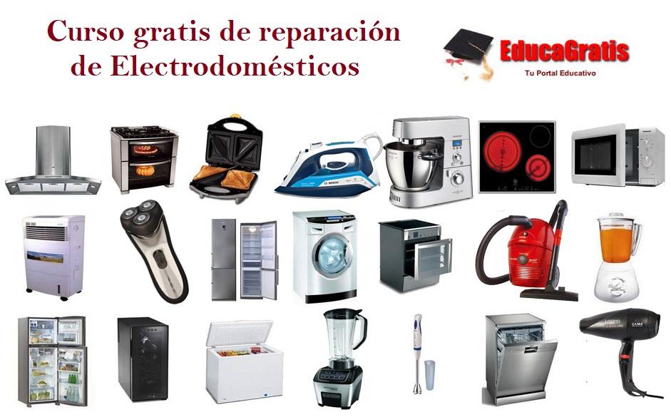 Curso gratis reparacion electrodomesticos Educagratis